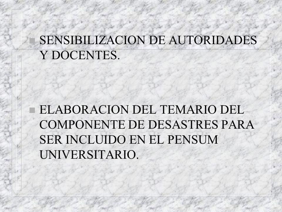 SENSIBILIZACION DE AUTORIDADES Y DOCENTES.