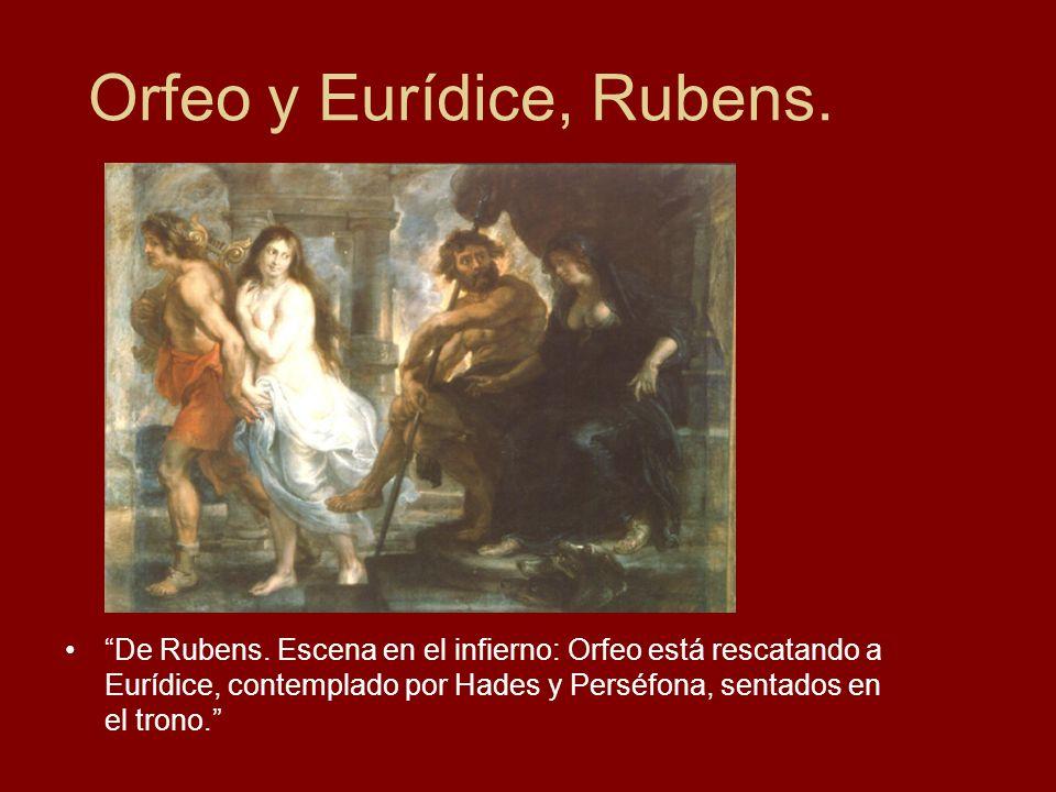 Orfeo y Eurídice, Rubens.