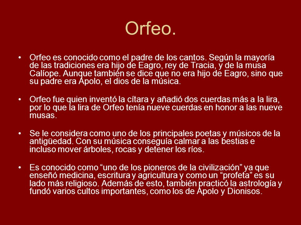 Orfeo.