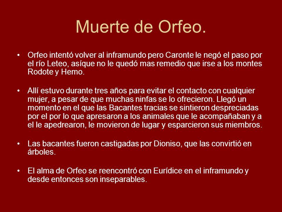 Muerte de Orfeo.