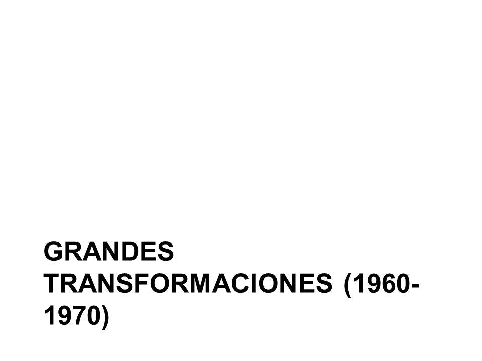 Grandes transformaciones (1960-1970)
