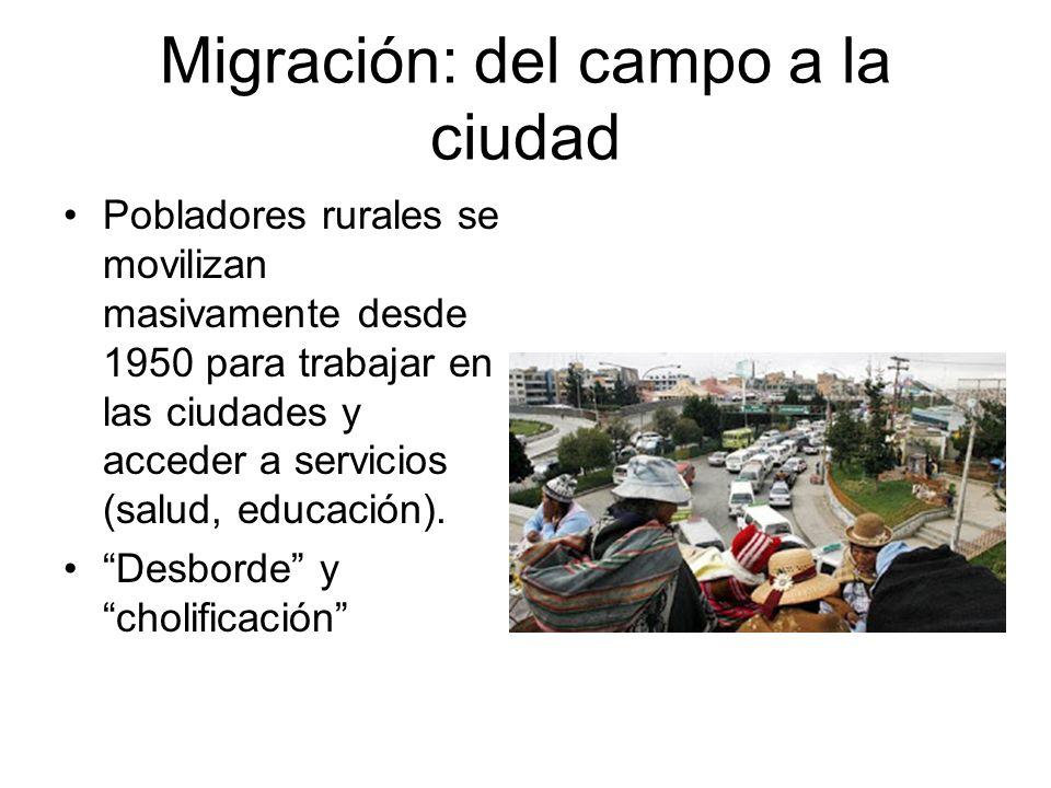 Migración: del campo a la ciudad