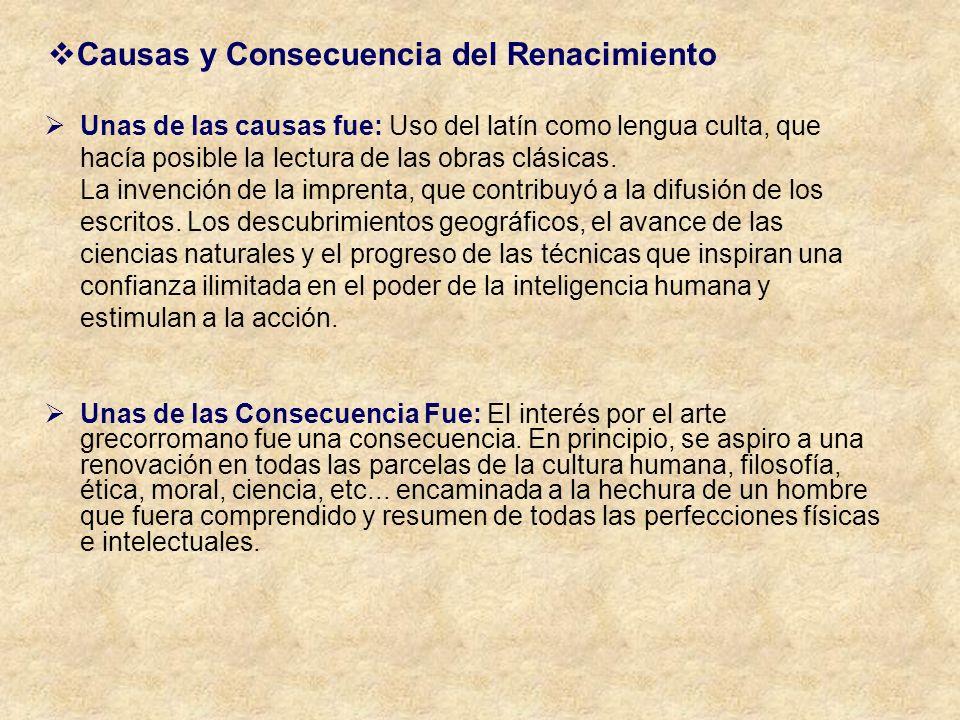 Causas y Consecuencia del Renacimiento