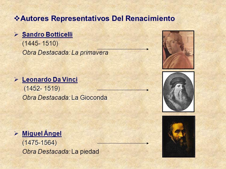 Autores Representativos Del Renacimiento