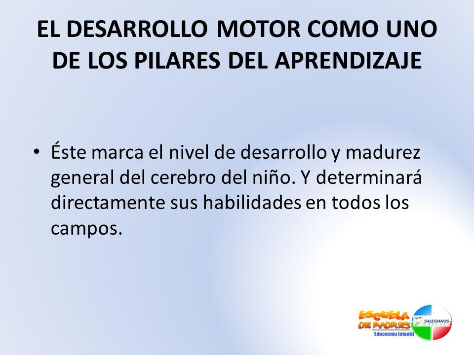 EL DESARROLLO MOTOR COMO UNO DE LOS PILARES DEL APRENDIZAJE
