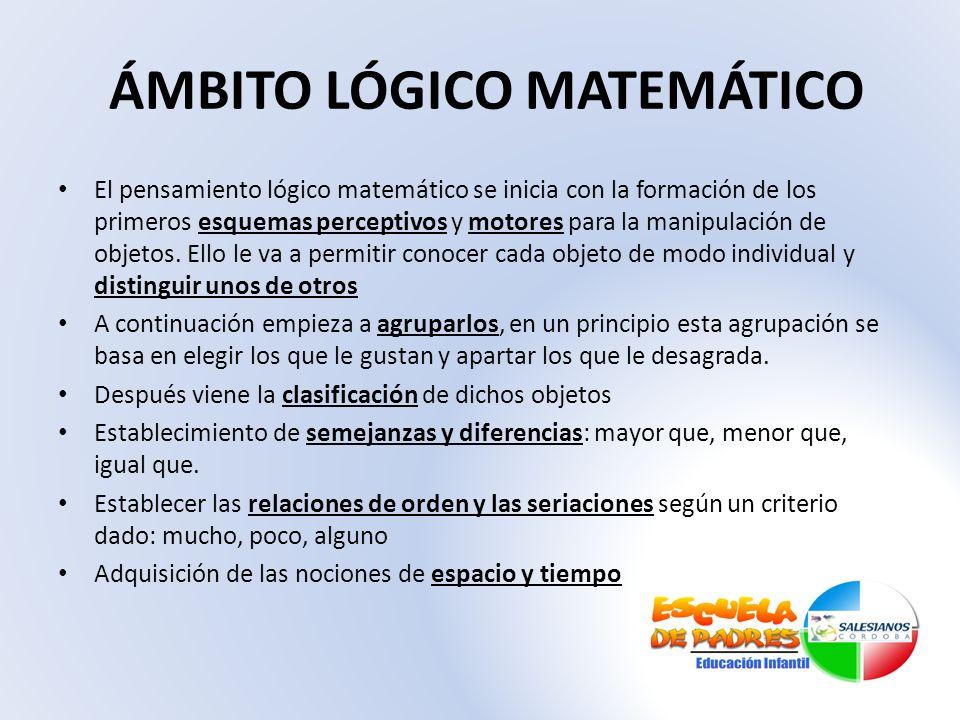 ÁMBITO LÓGICO MATEMÁTICO