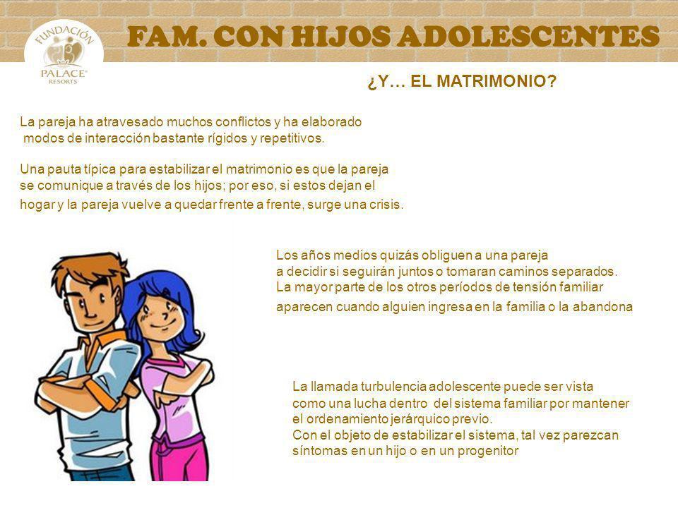 FAM. CON HIJOS ADOLESCENTES