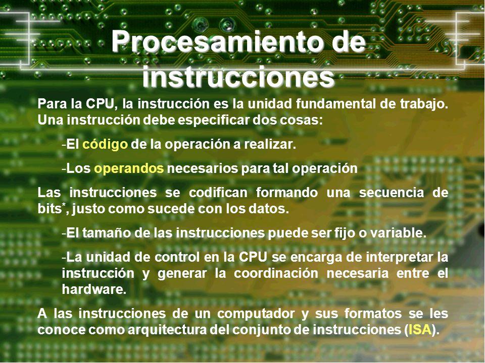 Procesamiento de instrucciones