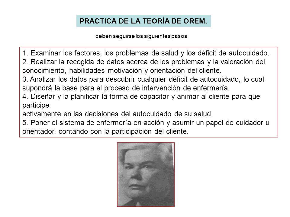 PRACTICA DE LA TEORÍA DE OREM.