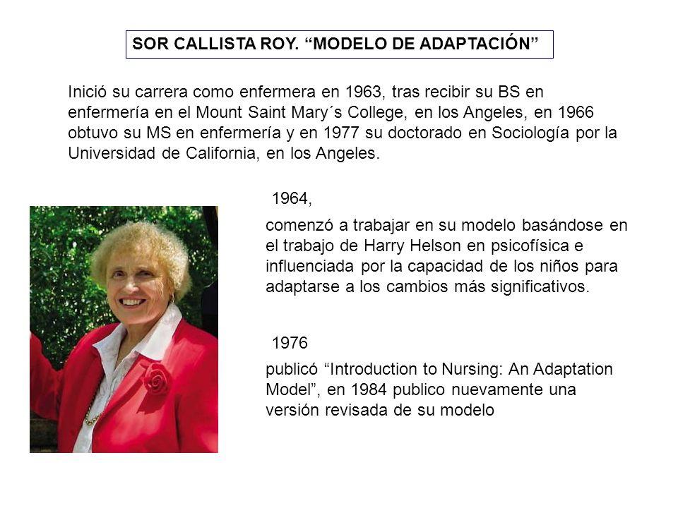 SOR CALLISTA ROY. MODELO DE ADAPTACIÓN