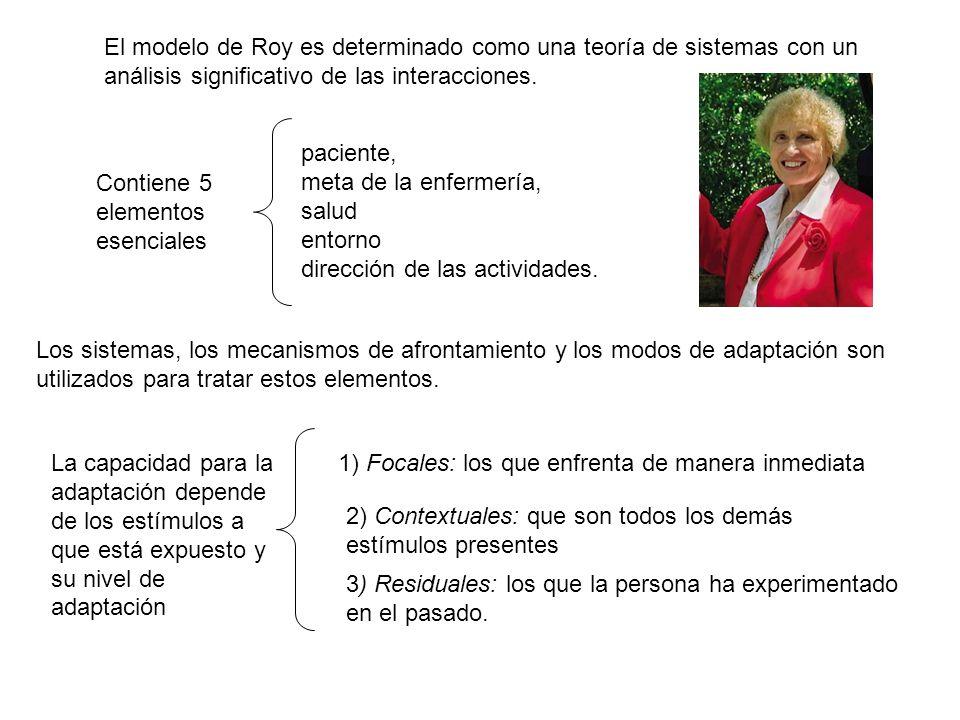 El modelo de Roy es determinado como una teoría de sistemas con un análisis significativo de las interacciones.