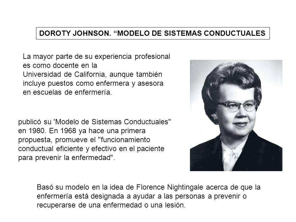 DOROTY JOHNSON. MODELO DE SISTEMAS CONDUCTUALES