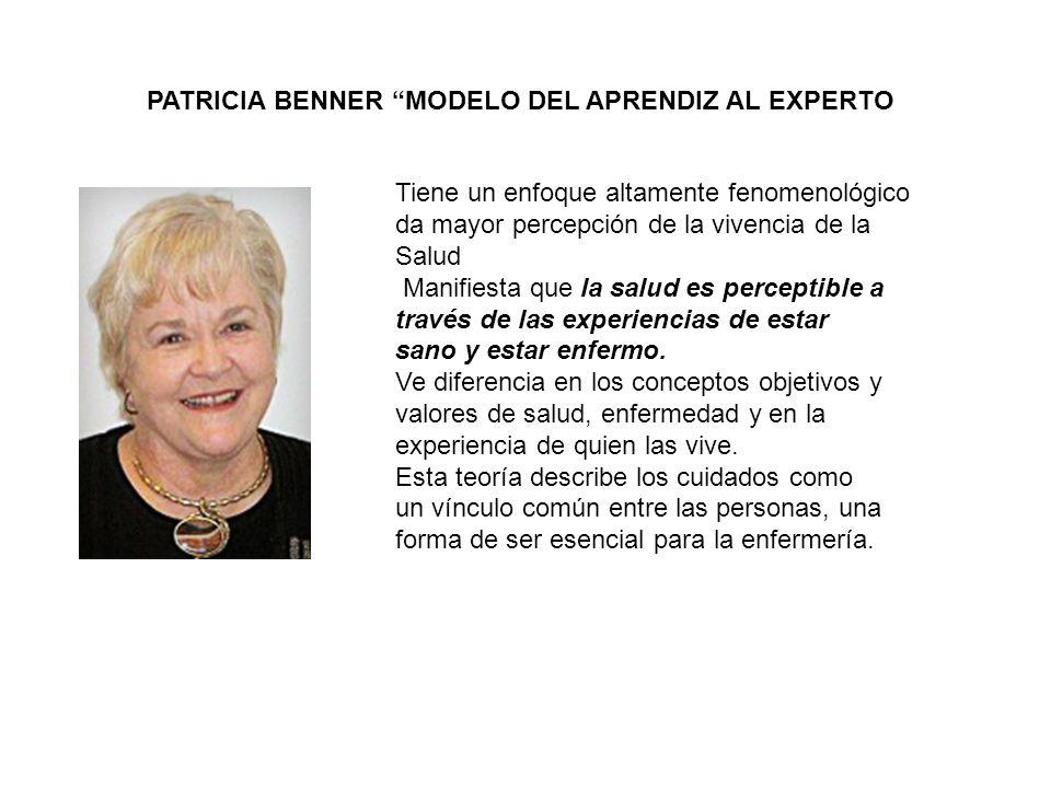 PATRICIA BENNER MODELO DEL APRENDIZ AL EXPERTO