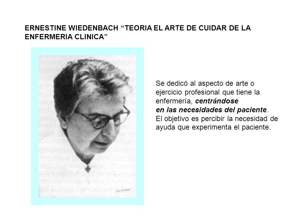 ERNESTINE WIEDENBACH TEORIA EL ARTE DE CUIDAR DE LA ENFERMERIA CLINICA