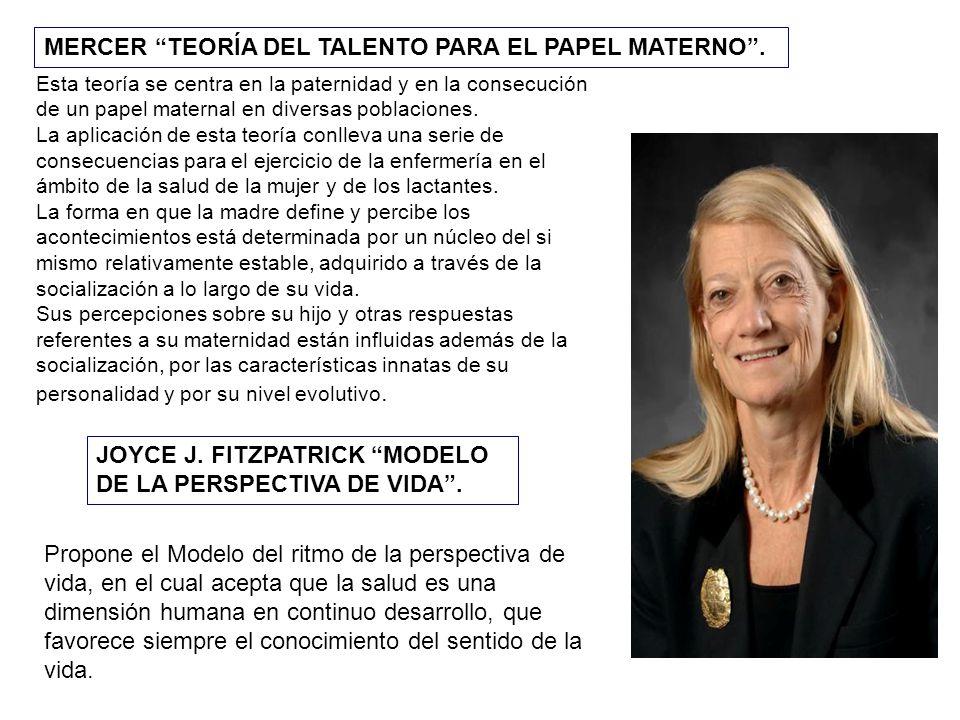 MERCER TEORÍA DEL TALENTO PARA EL PAPEL MATERNO .