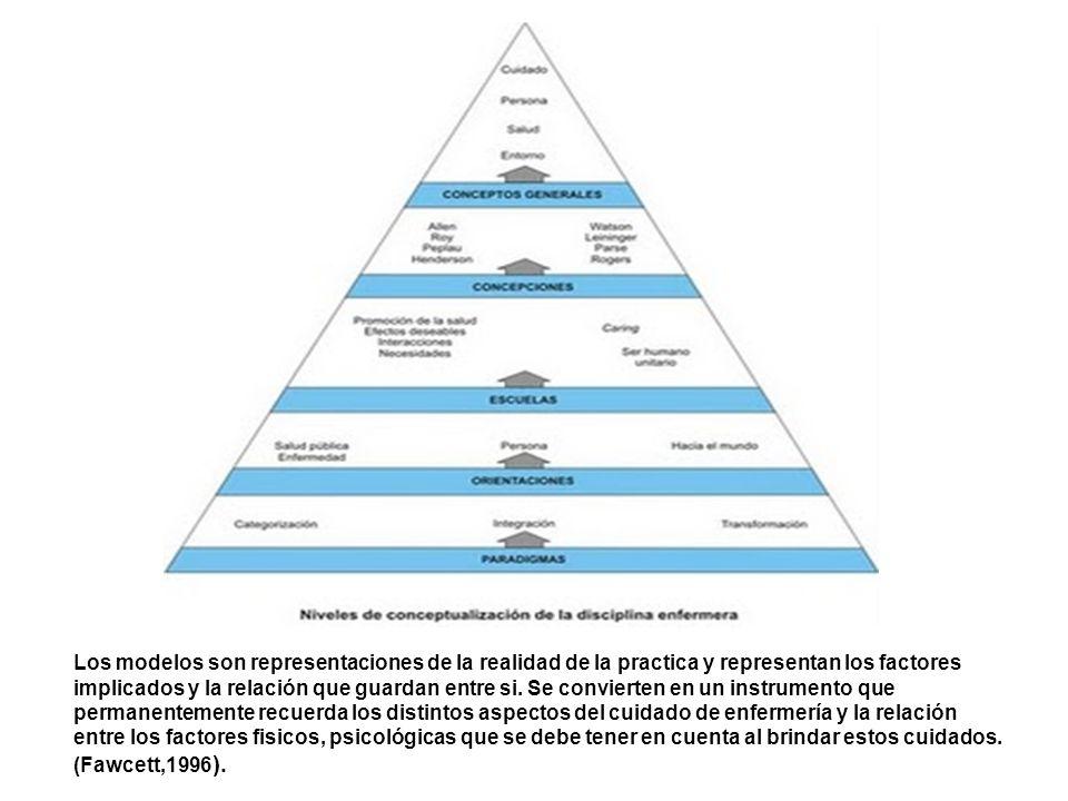 Los modelos son representaciones de la realidad de la practica y representan los factores implicados y la relación que guardan entre si.