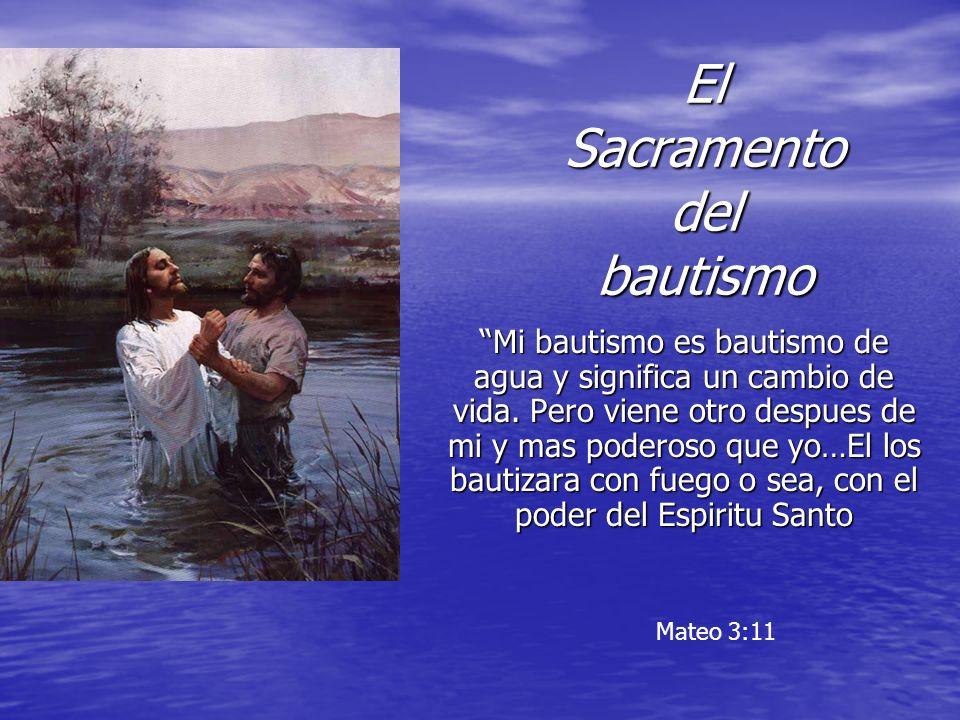 El Sacramento del bautismo