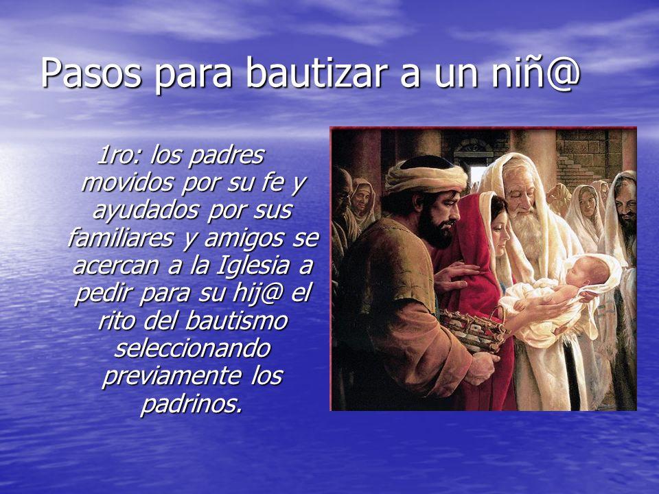 Pasos para bautizar a un niñ@