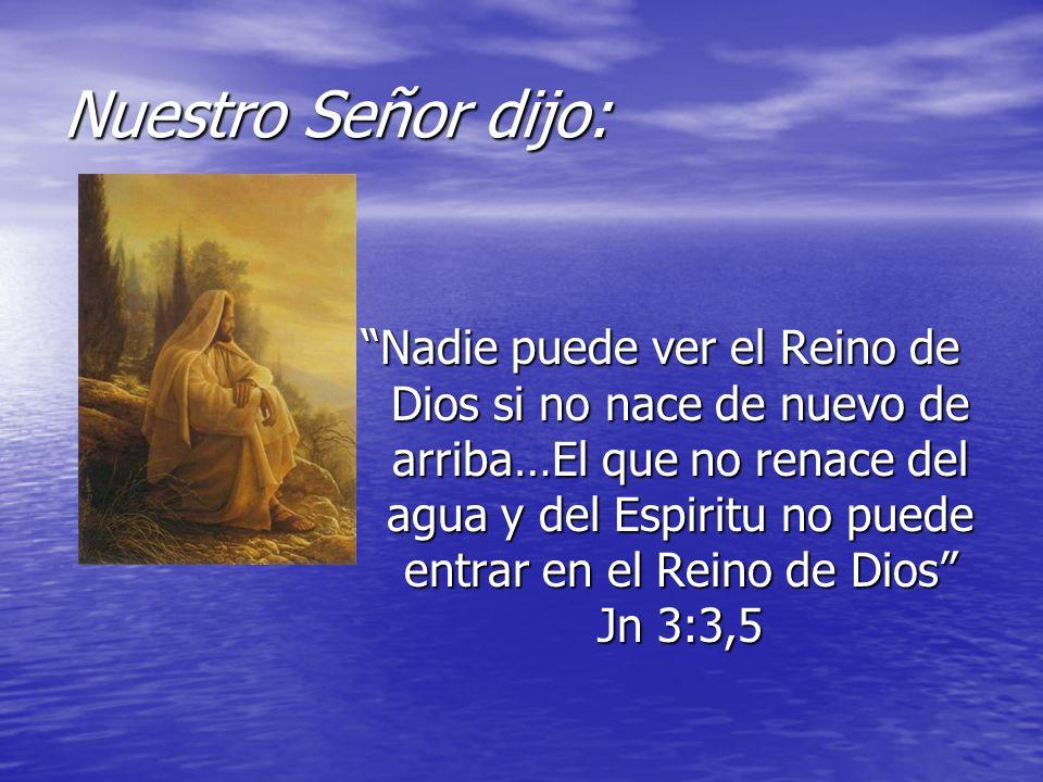 Nuestro Señor dijo: