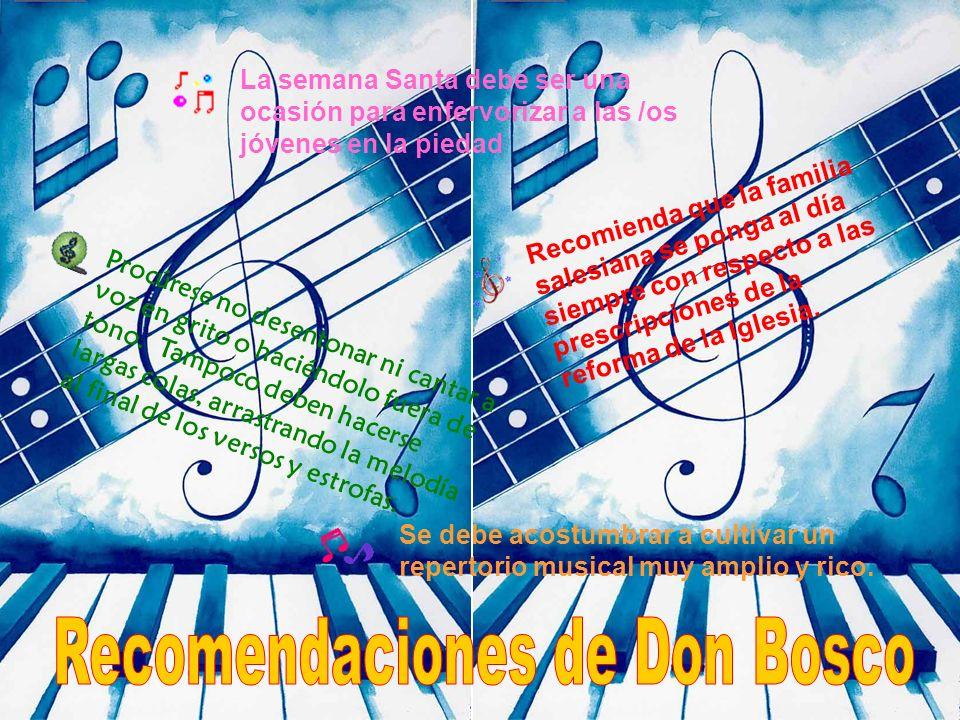 Recomendaciones de Don Bosco