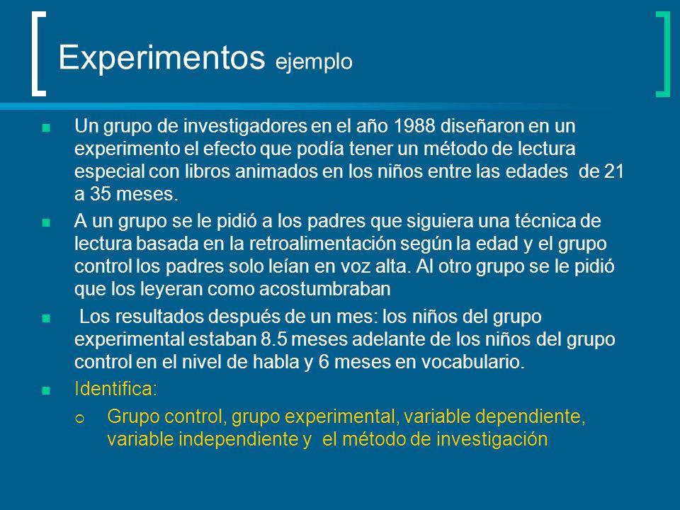 Experimentos ejemplo
