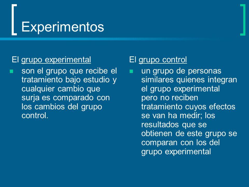 Experimentos El grupo experimental