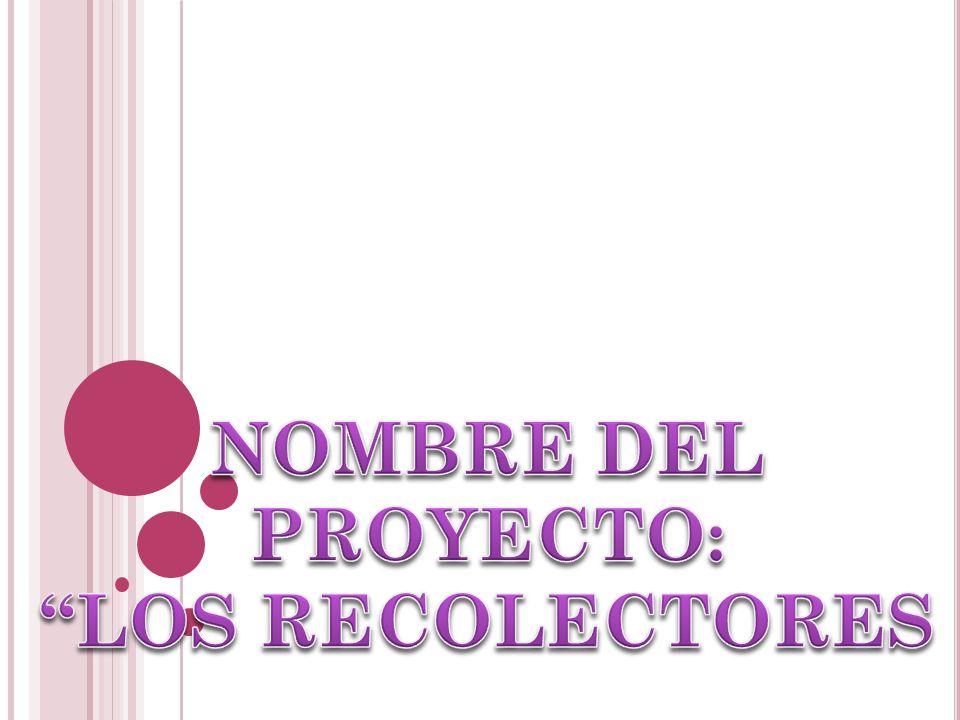 NOMBRE DEL PROYECTO: LOS RECOLECTORES