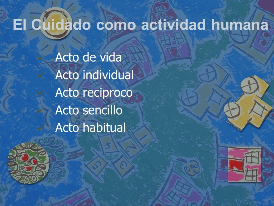 El Cuidado como actividad humana
