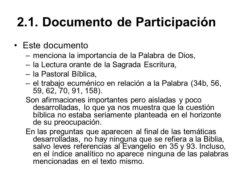 2.1. Documento de Participación