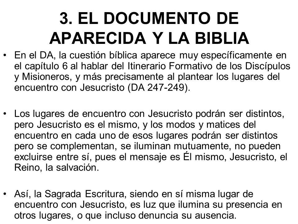 3. EL DOCUMENTO DE APARECIDA Y LA BIBLIA