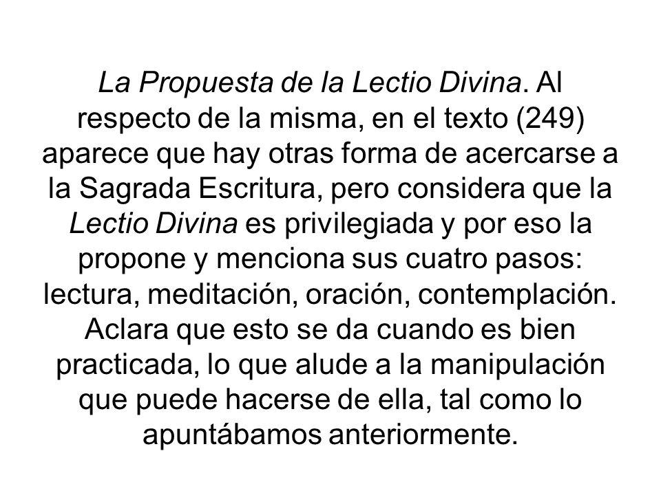La Propuesta de la Lectio Divina
