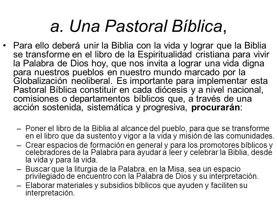 a. Una Pastoral Bíblica,