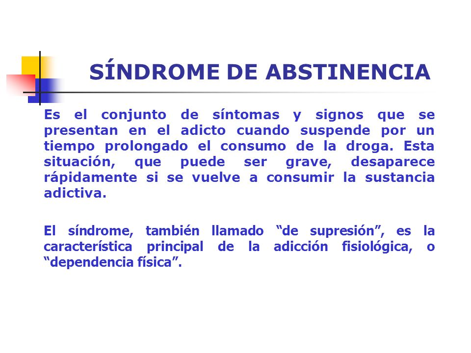 SÍNDROME DE ABSTINENCIA