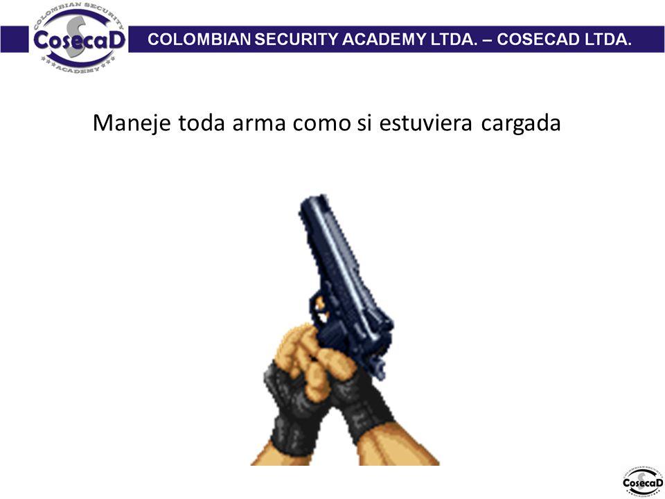 Maneje toda arma como si estuviera cargada