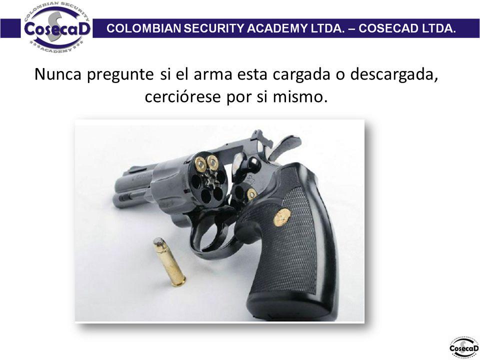 Nunca pregunte si el arma esta cargada o descargada, cerciórese por si mismo.