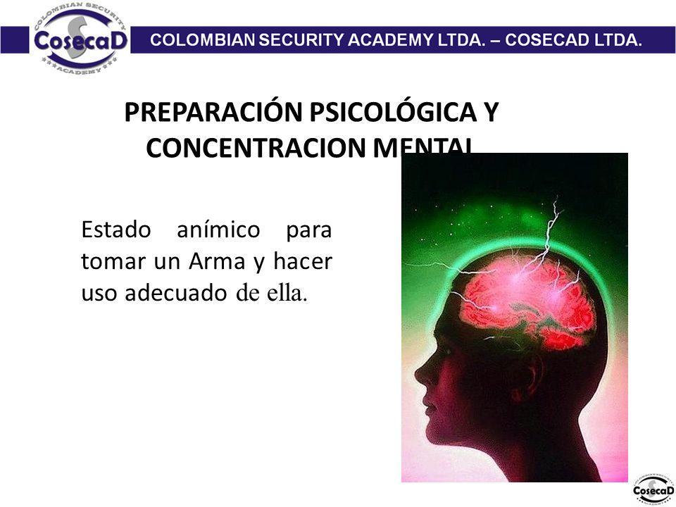 PREPARACIÓN PSICOLÓGICA Y CONCENTRACION MENTAL