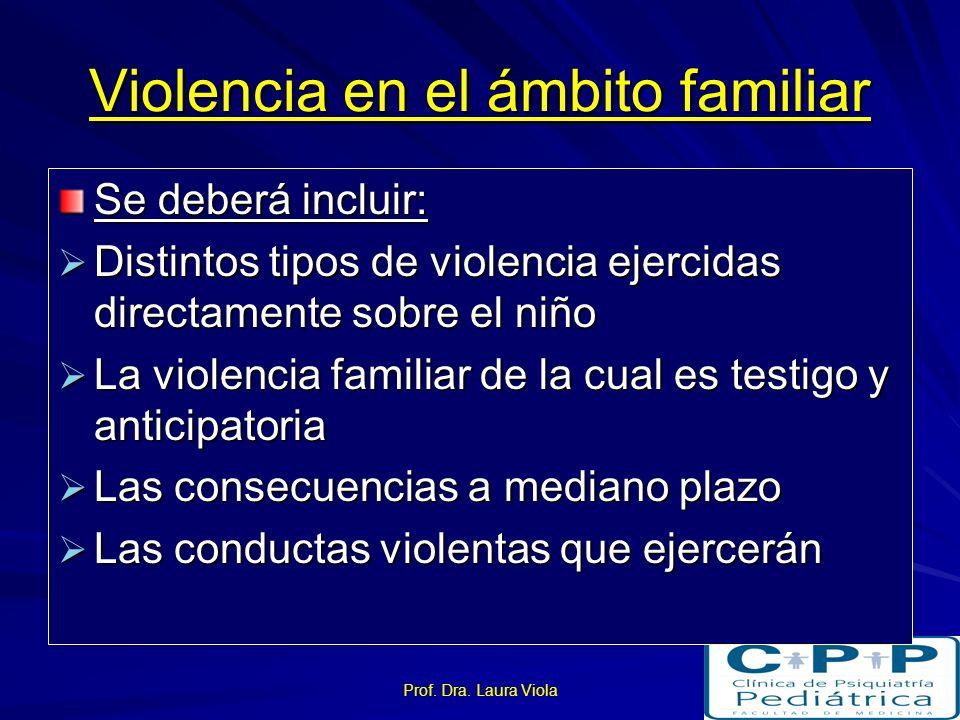Violencia en el ámbito familiar