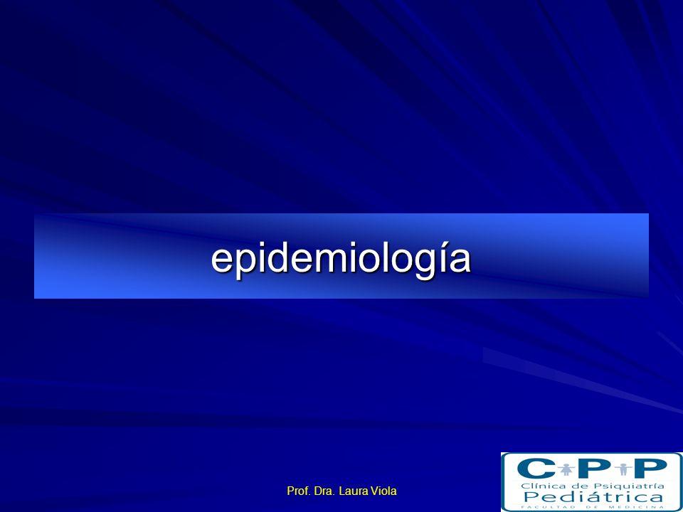 epidemiología Prof. Dra. Laura Viola
