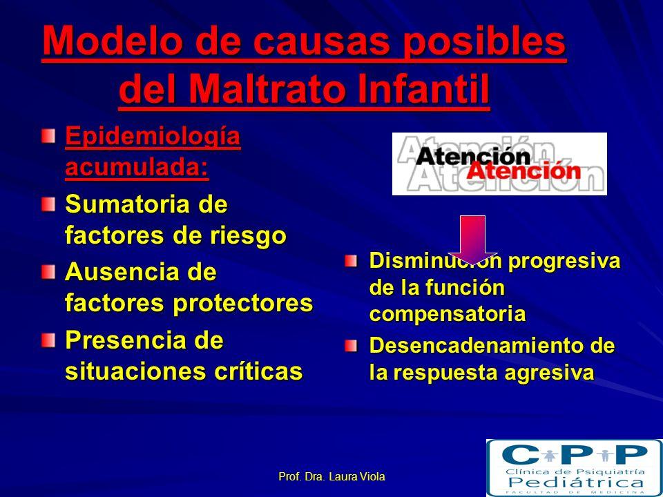 Modelo de causas posibles del Maltrato Infantil