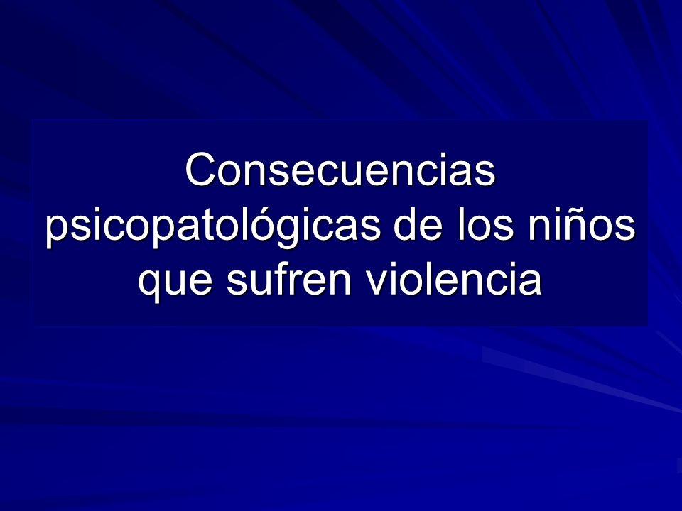 Consecuencias psicopatológicas de los niños que sufren violencia