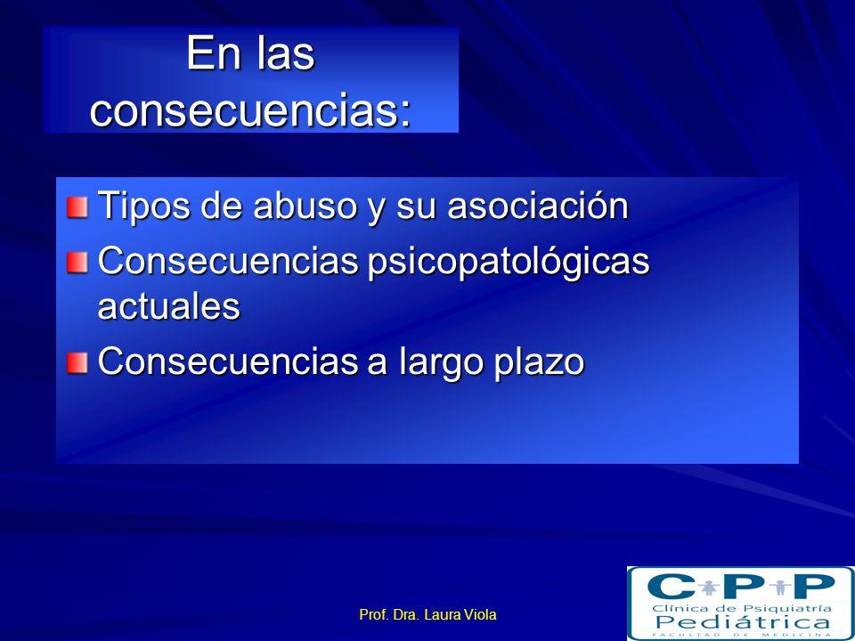 En las consecuencias: Tipos de abuso y su asociación