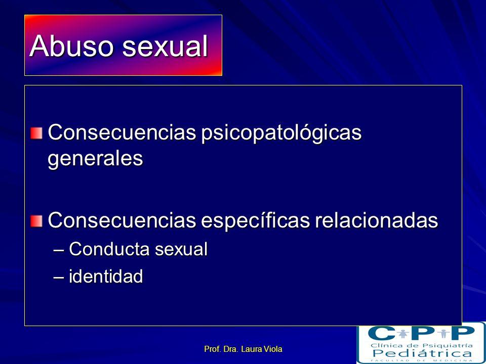 Abuso sexual Consecuencias psicopatológicas generales
