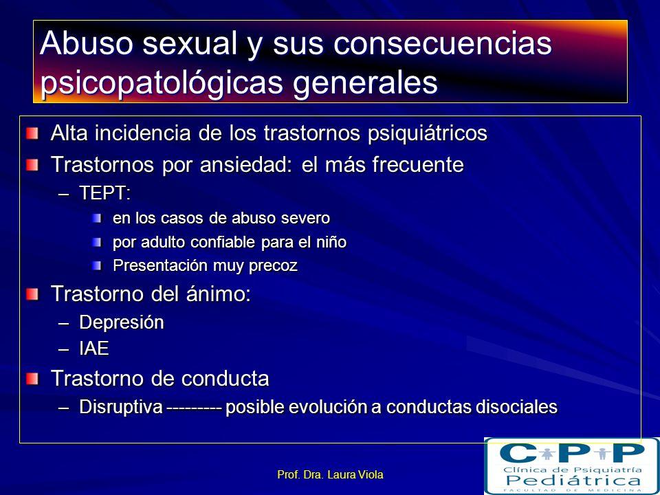 Abuso sexual y sus consecuencias psicopatológicas generales