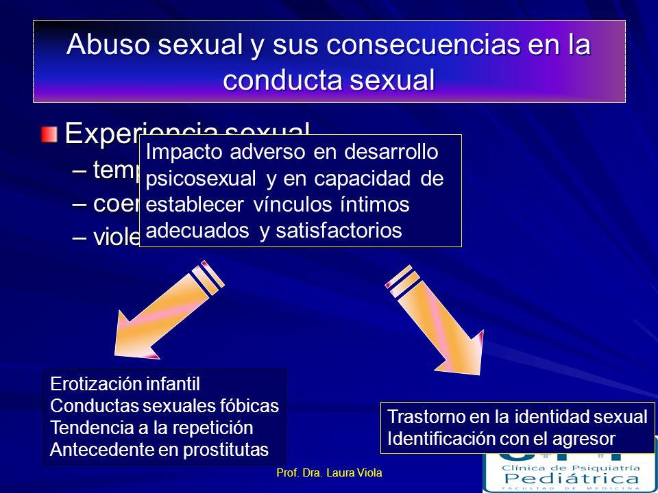 Abuso sexual y sus consecuencias en la conducta sexual