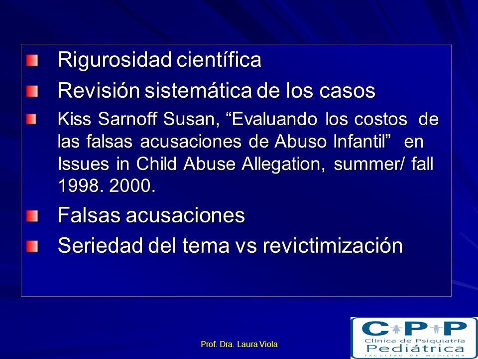 Rigurosidad científica Revisión sistemática de los casos