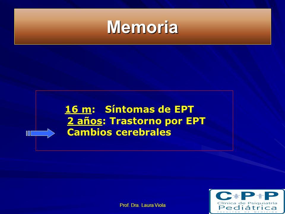 Memoria 16 m: Síntomas de EPT 2 años: Trastorno por EPT