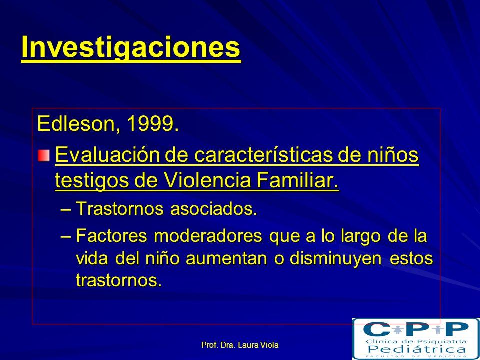Investigaciones Edleson, 1999.