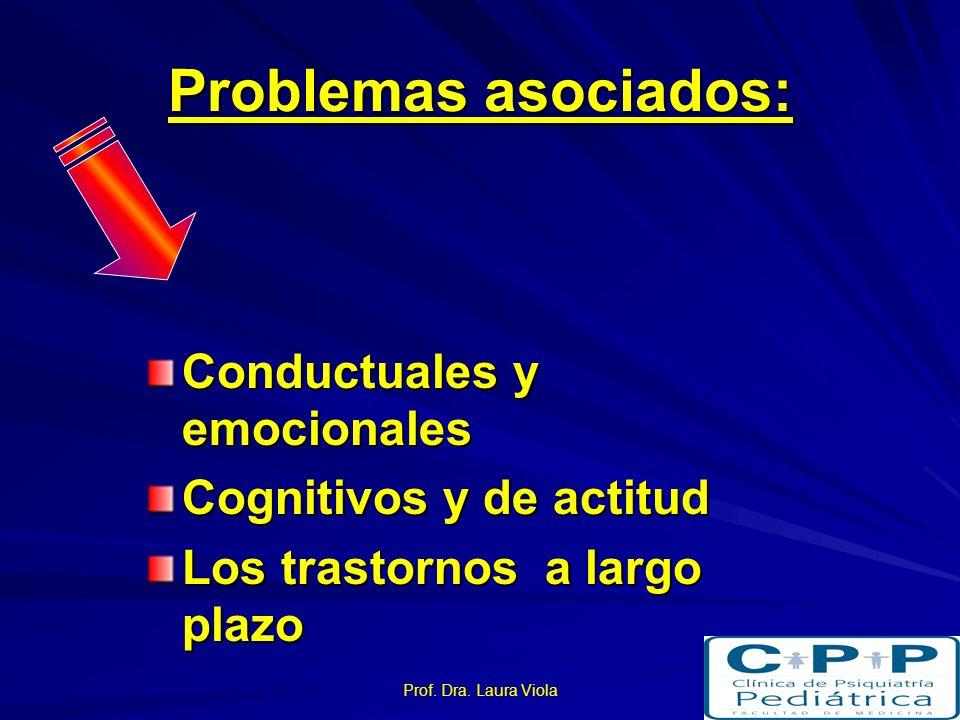 Problemas asociados: Conductuales y emocionales
