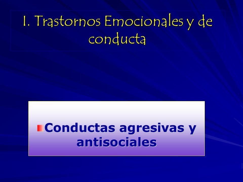 I. Trastornos Emocionales y de conducta
