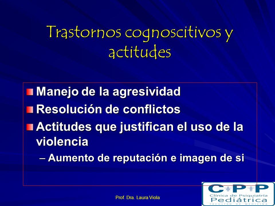 Trastornos cognoscitivos y actitudes